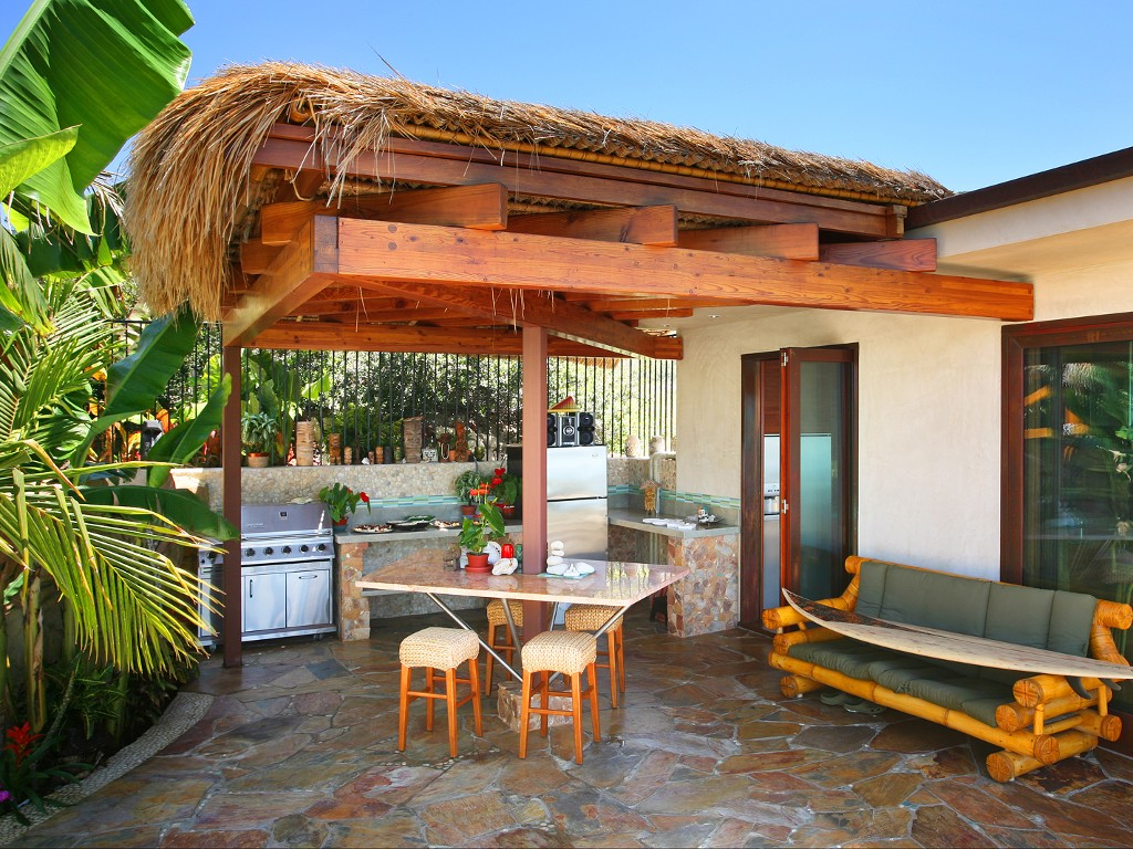 Outdoor Kitchen Palapa Bar
